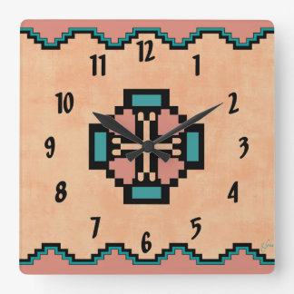 Norteño Square Wall Clock
