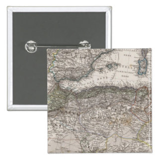 North Africa Region Map 2 Inch Square Button