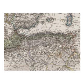 North Africa Region Map Postcard