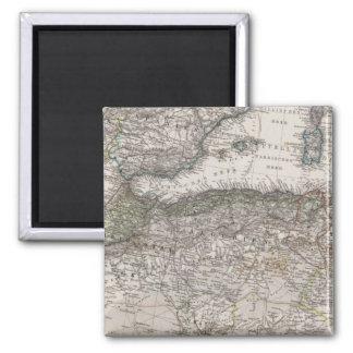 North Africa Region Map Square Magnet