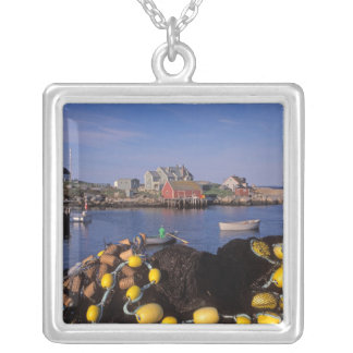 North America, Canada, Nova Scotia, Peggy's Square Pendant Necklace