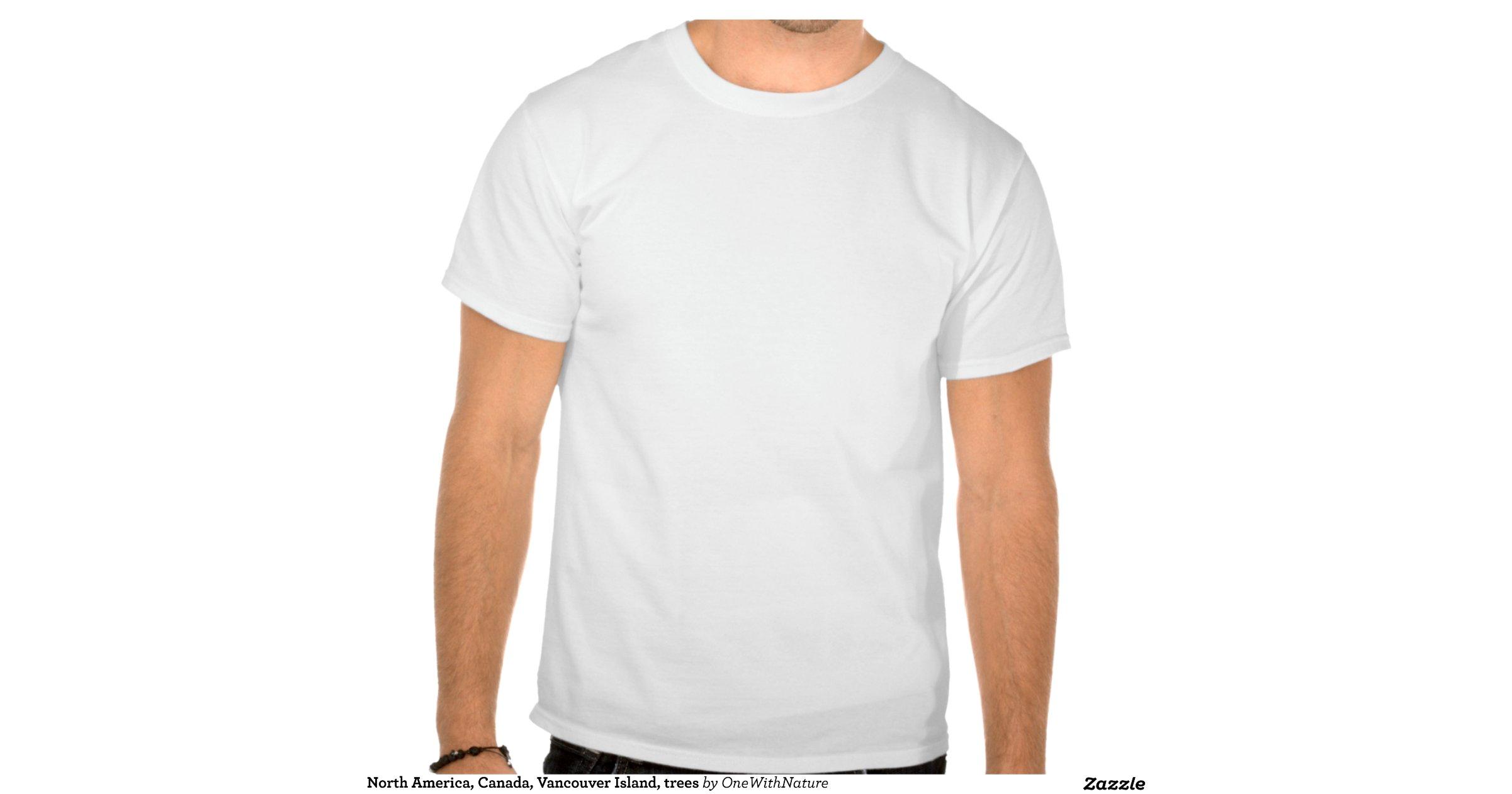 North america canada vancouver island trees tshirts for Vancouver t shirt printing