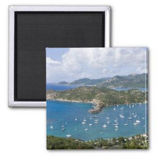 North America, Caribbean, Antigua. English Square Magnet