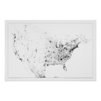 North America Census Dotmap Poster