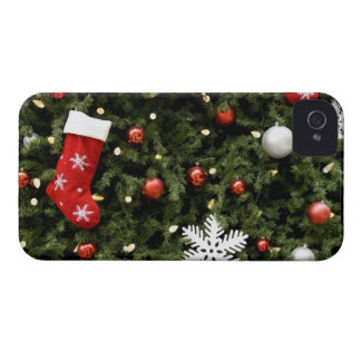 North America. Christmas decorations on tree. 2 Case-Mate iPhone 4 Cases