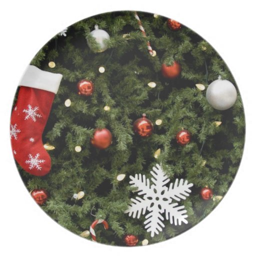North America. Christmas Decorations On Tree. 2 Party