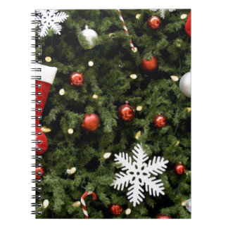 North America. Christmas decorations on tree. 2 Spiral Notebook