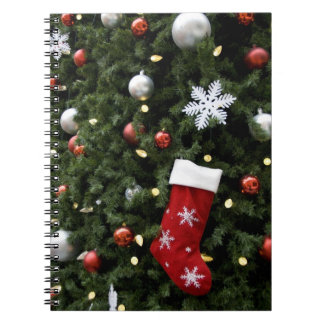 North America. Christmas decorations on tree. 5 Notebook