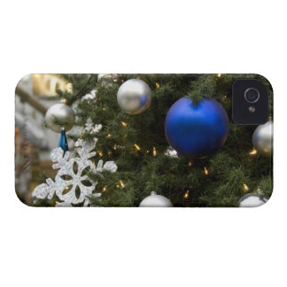 North America. Christmas decorations on tree. iPhone 4 Cover