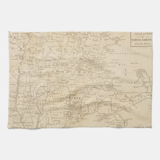 North America Map 1775 - War Survey Hand Towels