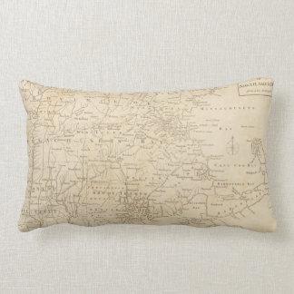 North America Map 1775 - War Survey Lumbar Pillow