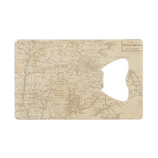 North America Map 1775 - War Survey Wallet Bottle Opener