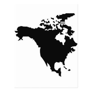 north america map postcard
