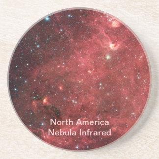 North America Nebula Infrared Coaster