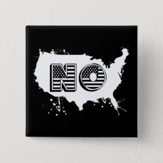 North America No Grunge Anti Trump Resist 2 Inch Square Button