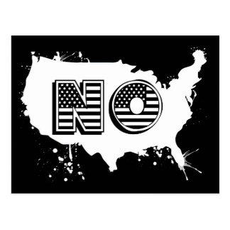 North America No Grunge Anti Trump Resist Postcard