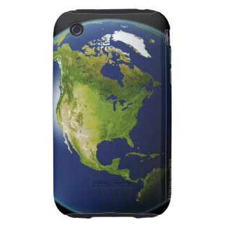 North America Seen from Space 2 iPhone 3 Tough Cover