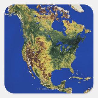 North America Square Sticker