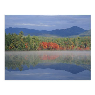 North America, US, NH, Fall reflections in Postcard