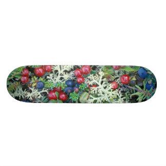North America, USA, Alaska, Landscape, berries Skate Board Deck