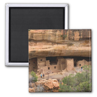 North America, USA, Colorado. Cliff dwellings Square Magnet