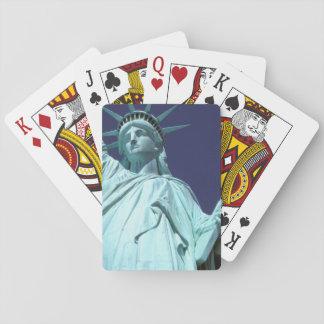 North America, USA, New York, New York City. 7 Playing Cards