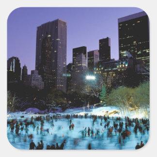 North America, USA, New York, New York City. 9 Square Sticker