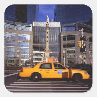 North America, USA, New York, New York City Square Sticker
