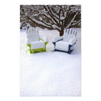 North America, USA, Washington, Seattle, Snow Photo Art