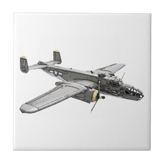 North American B-25 Mitchell bomber Ceramic Tile