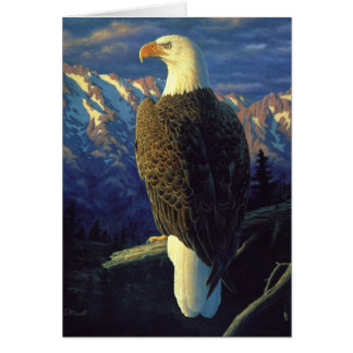 North American Bald Eagle Sky Blue Card