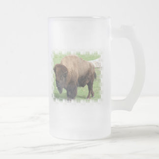 North American Bison Frosted Beer Mug