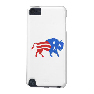 North American Bison USA Flag Retro iPod Touch 5G Case