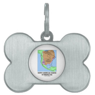 North American Craton In Perspective Pet ID Tag