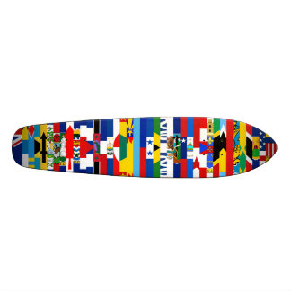 North American Flags Skateboard