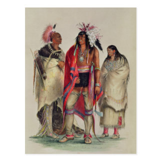 North American Indians, c.1832 Postcard