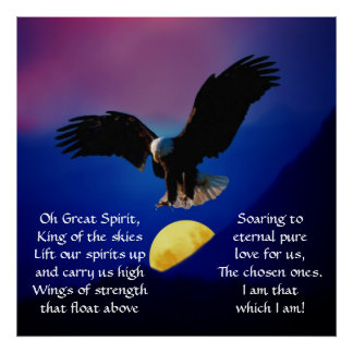 North American Native Indian Prayer Poster