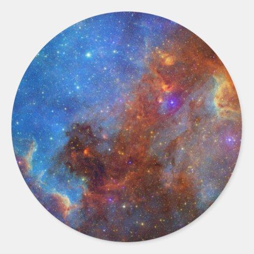 North American Nebula Round Stickers