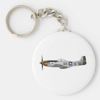"North American P-51D Mustang ""Double Trouble Two"" Keychain"