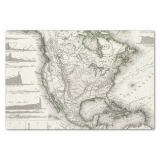North American Rivers and Mountains Tissue Paper