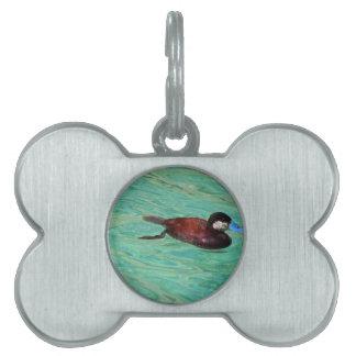 North American Ruddy Duck II Pet ID Tag