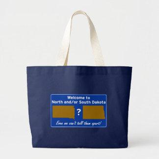 North and/or South Dakota Large Tote Bag