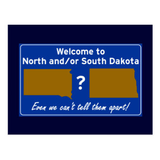 North and/or South Dakota Postcard
