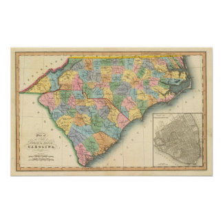 North and South Carolina 5 Poster