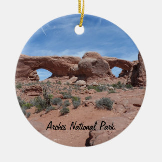 North and South Windows- Arches National Park Ceramic Ornament