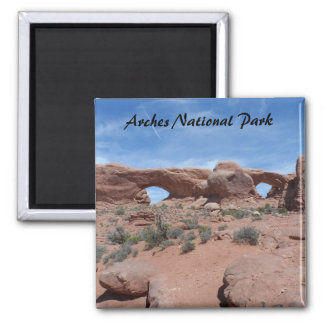 North and South Windows- Arches National Park Magnet