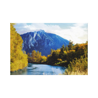 North Bend River Canvas Print