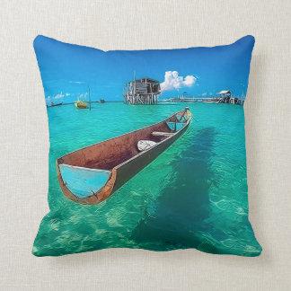 North Bintan, Indonesia Throw Pillow