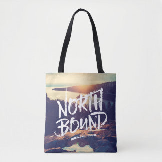 North Bound Quote Brush Typography Photo Template Tote Bag