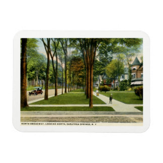 North Broadway, Saratoga Springs, NY Vintage Magnet